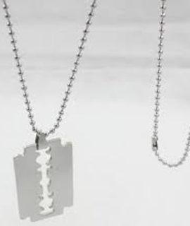 Razor Shape Stainless Necklace