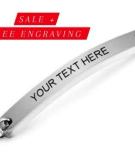 Personalized Stainless Bracelets With Free Costume Text Medium3