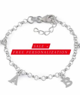 Alphabet Charm Personalized Bracelet Stainless Steel