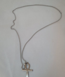 Head Opened Cross Stainless Necklace