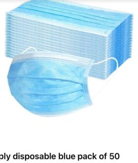 3 PLY DISPOSABLE FACE MASK BLUE 50s