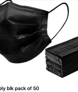 3 PLY DISPOSABLE FACE MASK 50S BLACK