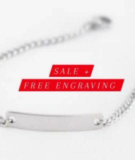 Personalized Bracelet With Free Costume Text Engraving Stainless Steel