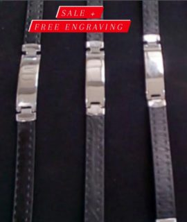 Personalized Unsex Leather Bracelet With Free Costume Text